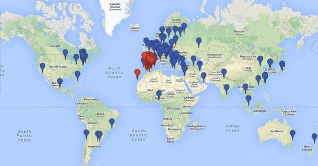 Mapa de Centros de Refencia para donar médula